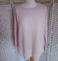 Joules Knitwear Womens Pink Wool Blend Jumper Size 18 Autumn Winter Blogger E23
