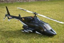 Airwolf Bell 222 600 Size Scale RC Helicopter Fuselage for Align T-Rex EXI Pro E
