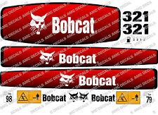 Bobcat 321 Mini Escavatrice Adesivo Decalcomania Completo Set