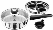JUDGE Vista Non Stick 2 Hole Egg Poacher Stainless Steel Saucepan & Vented Lid.