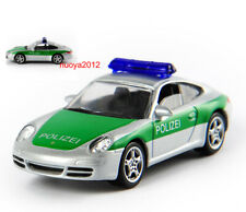 1/64 Green Car Norev Porsche 911 Police Vehicle Diecast Model Toy Gift Replica
