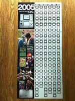 2005 Official NINTENDO DS Console Nintendo Power Calendar Poster Mario Metroid!