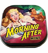 Morning After Mints Breath Mint Candy Gag Gifts Decorated Tin Box