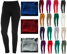 Women's Fleece Solid Colors Winter Thick Warm Basic Stretchy Leggings
