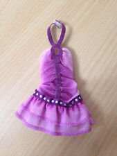Barbie Doll My Scene Kennedy Juicy Bling Purple Halter Ruffle Dress Outfit Cloth