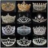 US Bridal Wedding Crystal Flower Tiara Crown Pearl Rhinestone Hair Headband !