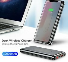 Power Bank 10000mah Qi Wireless Charger for iPhone Samsung PD External Battery