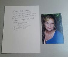 Autograph - Sylvia Syms OBE - Film Star - Live ink and personal letter