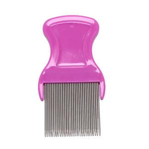 stainless steel combs for head lice dectection kids pet flea cootie comb TCJK*sh