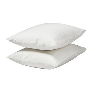 Ikea Dvala Pack of 2 Cotton Pillow Cases 50cm x 80cm various colours NEW