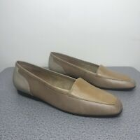 Enzo Angiolini Liberty Camel and Tan Loafer Flats Size 8M - EUC!