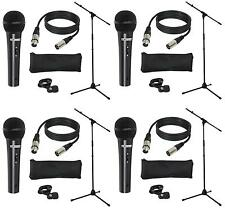 4x LD Systems MICSET1 Mikrofonset mit Mikrofon, Mikrofonstativ, 5m Mikrofonkabel