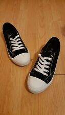 Black F&F Plimsole (converse Style) Mens Shoes - Size Uk 9