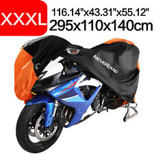 XXXL 190T Waterproof Motorbike Cover For Harley Touring Sportster Dyna Street