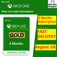 Xbox Live Gold 6 Month Membership Subscription Xbox One 360 INSTANT US Region