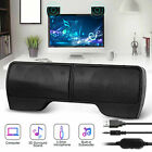 USB Power Speakers Clip-On Computer Stereo Sound Bar 3.5mm for Desktop Laptop PC