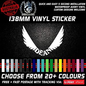 Dean Guitar Logo vinyl Sticker Decal 100mm Tall 20+ Colours