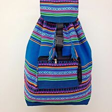 Native RASTA Artisan Hippie Baja Boho Ethnic Backpack Beach Handmade in Peru S07