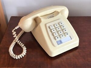 GPO Telephone 8782 Ivory Cream Push Button Dial Vintage Old English BT On Off