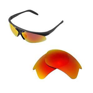 New Walleva Fire Red Polarized Replacement Lenses For Bolle Vigilante Sunglasses