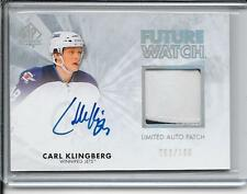 11-12 SP Authentic Carl Klingberg Future Watch Rookie Patch Auto # 226