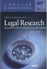 Principles of Legal Research, Successor to How to Find the Law Concise Hornbook