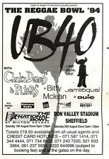 """NEWSPAPER CLIPPING/ADVERT 6/8/94PGN43 7X5"""" LIVE CONCERT TOUR DATES, WB40 WITH CH"""