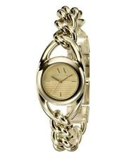 NEW ARMANI EXCHANGE GOLD TONE STAINLESS STEEL CHAIN LINK BRACELET WATCH AX3093