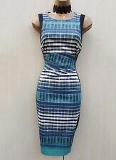Stunning Karen Millen Geo Print Business Occasion Work Party Pencil Dress 10 UK