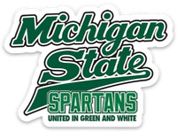 "Michigan State University Spartans ""United in Green & White"" Logo Type MAGNET"