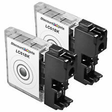 2pk LC61BK LC61 BLACK Ink Print Cartridge for Brother mfc-5895cw mfc-j415w j615w