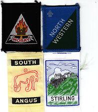 Boy Scout Badges x 4 inc Ext NORTH WESTERN Scotland