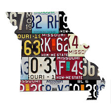 MISSOURI License Plate Map Sign, THE SHOW-ME STATE License Plates Patriotic Sign
