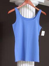J JILL Blue Lotus Cotton/Lycra Perfect Tank Top Shell Size XS NWT