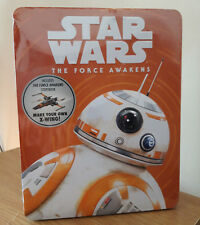 Star Wars The Force Awakens Collectable Tin Storybook Press Out Model Kit X-Wing