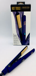 HOT TOOLS Signature Series 1 Inch Professional Ceramic Digital Flat Iron Purple