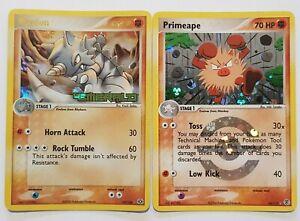 Rhydon GOLD & Primeape Holo Pokemon Cards TCG Emerald & FR/LG