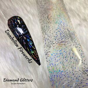 Holo Nail Transfer Foil 1m Holographic Silver Nail Art Dandelion Fireworks
