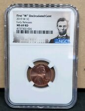 2019 W 1C LINCOLN CENT UNCIRCULATED NGC MS69 RD Early Release with sealed set