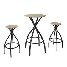 SoBuy®Set de 1 Table + 2 Tabourets Table Mange-Debout Table Haute  OGT21-SCH, FR