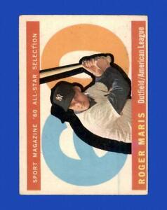 1960 Topps Set Break #565 Roger Maris AS VG-VGEX *GMCARDS*