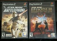 Star Wars Episode III Revenge of Sith and Battlefront PS2 (Playstation 2) Tested
