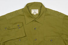 Mens GANT Shirt L x Michael Bastian in Fern Green Cotton EXPLORATION Safari