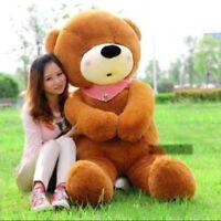 "55"" Teddy Bear Plush Soft Toys Doll Stuffed Giant Big Dark Brown Huge Girls Gift"