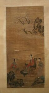 A Chinese Qing-dynasty painting scroll