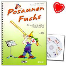 Posaunen Fuchs 1 - Posaunenschule mit CD - HAGE - EH3811 - 9783866263390