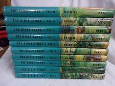 Uncle Arthur S. Maxwell KJV Bible Story 10 Vol Set blue