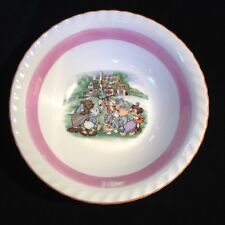 1940's Walt Disney Productions Luster Ware Cereal Bowl #2 Goofy, Donald, Minnie