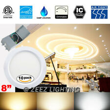 "10X 18W 8"" Warm White LED Recessed Panel Light Fixture w/Junction Box ETL Listed"