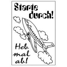 Efco STARTE DURCH Stempel SET, clear stamp, A7 / 4511030,3 - teilig